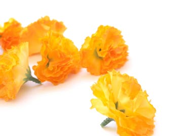 25 Bright Yellow Gold Baby Carnations - Artificial Flowers