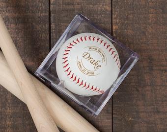 Ring Bearer Gift, Personalized Laser Engraved Baseball, Ring Security, RingBearer Gift, Jr Groomsmen Gift, Wedding Favor, Junior Groomsman