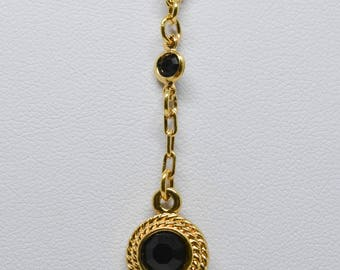 Lovely black and gold otne necklace