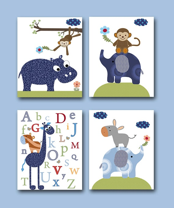 Baby Room Decor Nursery Decor Nursery Boy Kids Art By
