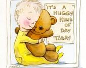 Huggy Kind of Day 8x10 art print