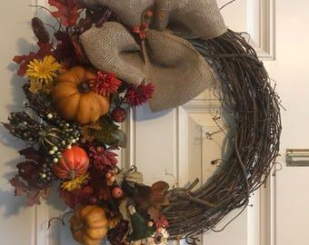 Fall Twig Wreath
