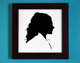 Game of Thrones - Margaery Tyrell - Silhouette Portrait Print
