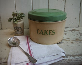 Vintage Cake Tin - Vintage Tala Cake Tin - Vintage Tala Tin - Vintage Kitchen Canister - Kitchen Canister - Vintage Tala - Tala Cake Tin