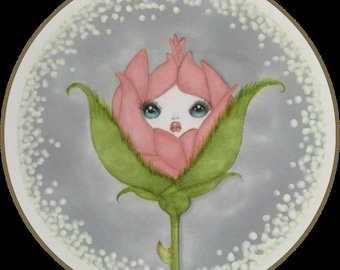 Original art rosebud lowbrow fantasy art
