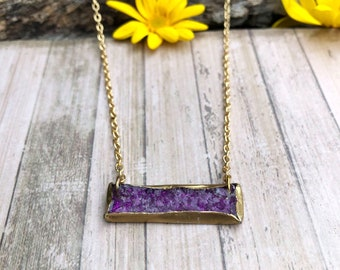 Faux Amethyst Druzy Necklace