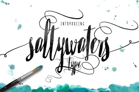 Calligraphy Font, Modern Calligraphy, Digital Fonts, Wedding Font, Invitation Font, Script Font, Digital Download, Saltywaters