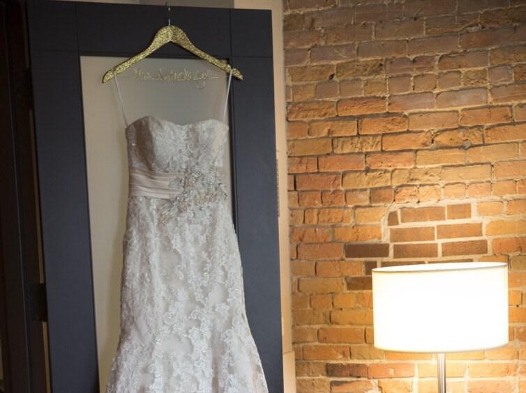 Glitter Wedding Dress Hanger Gold Wedding Hangers