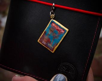 Frankenstein Book Charm - Frankenstein Wedding Charm - Book Lover Gift - Midori Charm - Journal Charm - Jewelry Accessory - Reader Gift