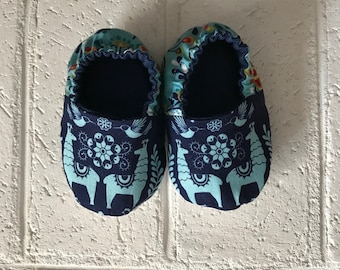 12-18 Month Llama Print Baby Shoes
