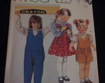 McCall's #3263 Children's Blouse, Jumper and Overalls Vintage Sewing Pattern