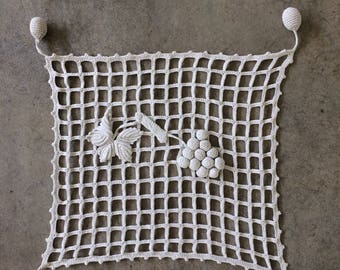 Antique French Hand Crocheted Lace Panel