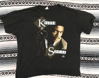 Vintage Keith Sweat Tour Shirt Rap Tee Hip Hop R&B 90's Paper Thin Medium