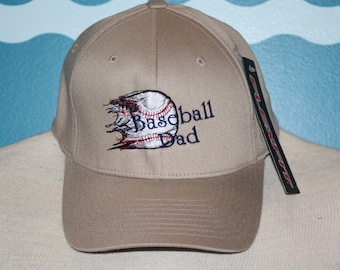 Embroidered Baseball Dad Hat - Embroidered Flexfit baseball cap - custom embroidered baseball dad hat - baseball dad gift - man gift
