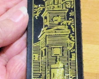 Historic St JOHN'S CHURCH, Richmond, VA Leather Bookmark, Historic Church