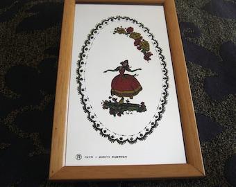 The Dutch girl: varnish on mirror