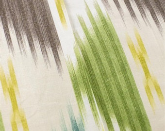 Ivory/Multi Braemore Ikat Print Home Decorating Fabric, Fabric By The Yard