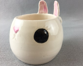 Cute Handmade Bunny Rabbit Shaped Ceramic Mug (The Liz E.B.)