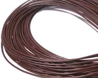 3 yd 2mm Greek Leather Cord - DARK BROWN - Hank