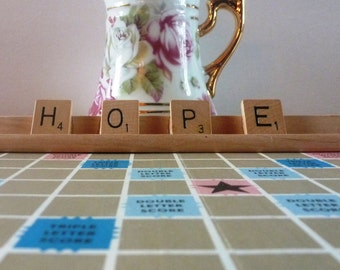 Hope Scrabble Sign or Nameplate Made to Order