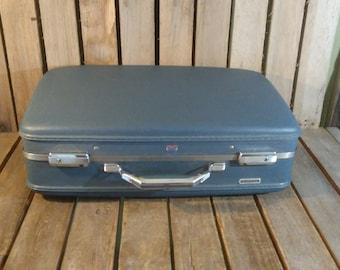 Vintage Blue Suitcase, American Tourister Suitcase