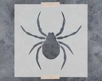 Spider Stencil - Reusable DIY Craft Stencils of a Spider Insect