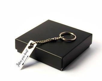 Personalized Keychain / Custom Keychain / Custom Message / Heart Keychain / Monogram Keychain / Name Keychain/loved