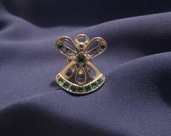 Blue Rhinestone Angel Pin