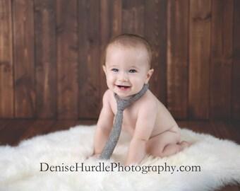 Baby photo prop necktie, brown tweed wool necktie, baby necktie, baby photography prop, neck tie,  baby neck tie - made to order