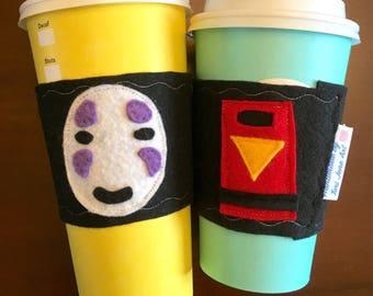 No Face Cozy - felt coffee/tea cozy