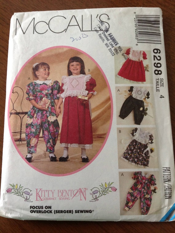 Girl\'s dress, jumpsuit and tabard pattern, heirloom sewing girl\'s ...