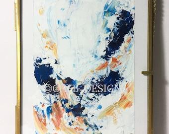 Medium framed original acrylic painting - 'TANGERINE - 02'