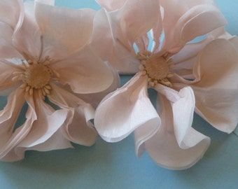 Pink Poppy Silk Flower SMALL  for Bridal, Sashes, Headbands, Corsages MF102