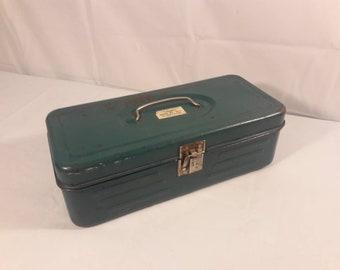 Vintage Union Metal Tool Box