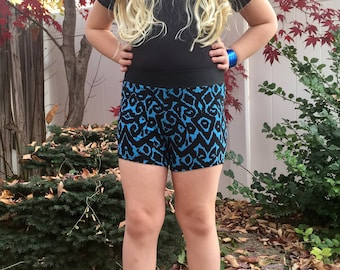 Black and Blue Shorts