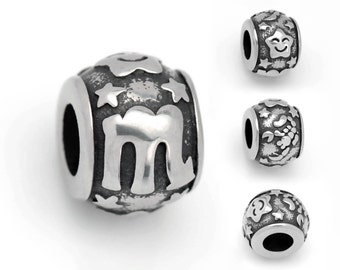 Stainless Steel Scorpio Charms Astrology Charms Horoscope Charms Scorpio European Beads For European Charm Bracelets #14-SB