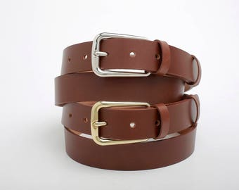Leather Belt, Brown Leather Belt, Brown Leather Womens Belt