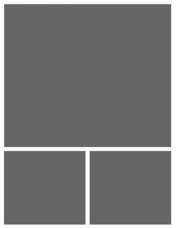 Instant Download 8.5x11 Storyboard Photographers Template