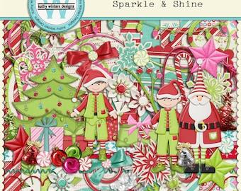 Digital Scrapbook Sparkle & Shine Kit