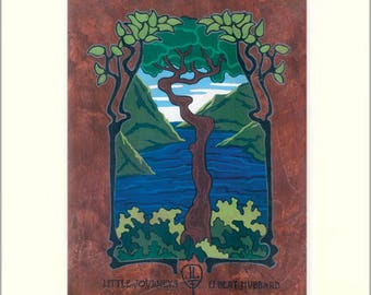 Elbert Hubbard - Little Journeys: Matted Giclée Art Print by The Bungalow Craft by Julie Leidel (Arts & Crafts Movement)
