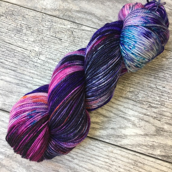 things I loved - Orion Nebula - Galaxy Hand Dyed Variegated Yarn by WIP Yarns