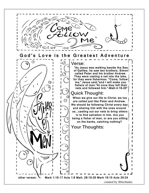 fisher of men bible journaling printable