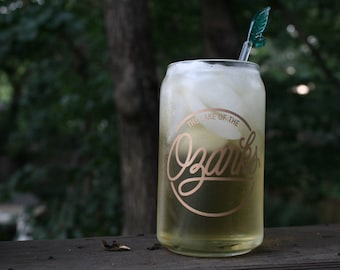 Lake of the Ozarks | 16 oz. Beer Glass | Matte Gold Design