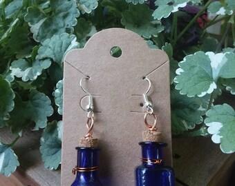 Blue Bottle Earrings
