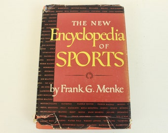 The New Encyclopedia of Sports, Second Printing, by Frank G. Menke, Revised and Rewritten Edition, Histories of Over 100 Sports, Red, 1947