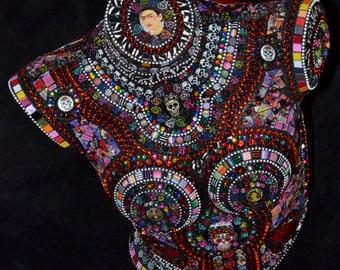 Frida Día de los Muertos 3-dimensional sculpture