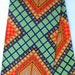 Orange Geometric Fabric Orange Ankara Fabric Ankar Blue Fabric African Dress For Women Fabric African Gift For Her African Christmas Gift