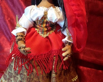 GINA THE GYPSY One of a Kind Art Doll