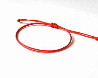 Red String Bracelet, Kabbalah Bracelet, Evil Eye, Red String Of Fate, Good Luck Bracelet, Amulet, Thread Bracelet, Protection Bracelet, Men