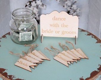 Dance With The Bride or Groom Wedding Game Set